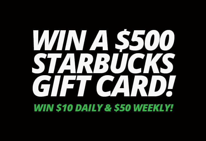 Win a $500 Starbucks Gift Card