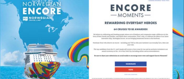 Customized Sweepstakes Case study – Norwegian Cruise Line